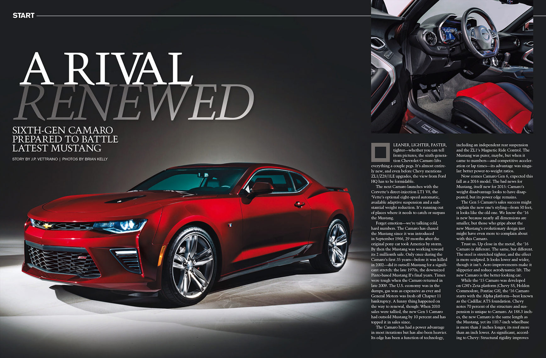2016 Camaro for Autoweek Magazine