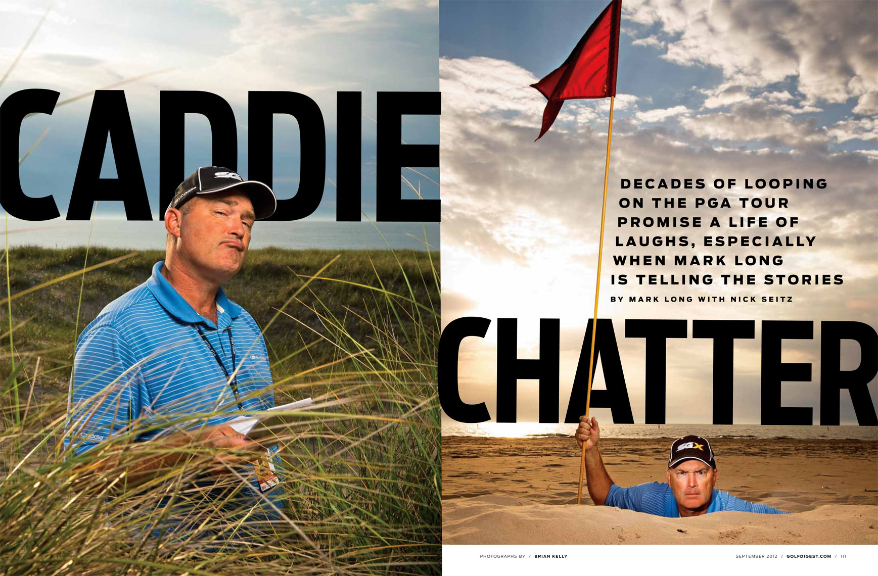 Golf Digest, PGA, PGA Tour, Caddie, Mark Long, Fred Funk, Brian Kelly Photography, Editorial, Portrait, Sports, Golf, Brian Kelly
